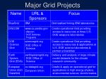 major grid projects