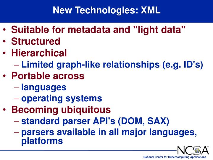 New Technologies: XML