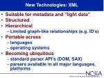new technologies xml1