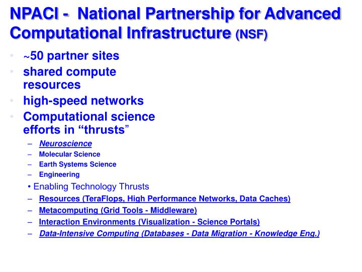 NPACI -  National Partnership for Advanced Computational Infrastructure