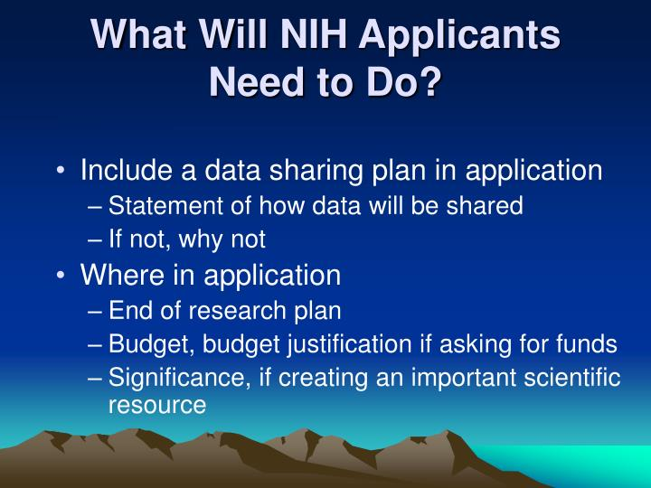 What Will NIH Applicants Need to Do?