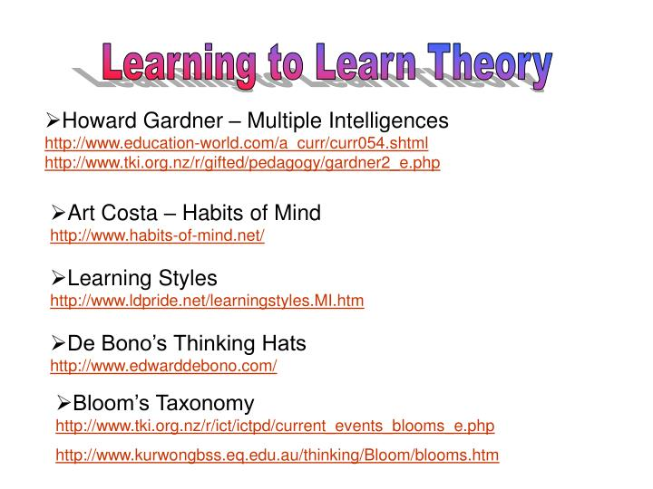 Learning to Learn Theory