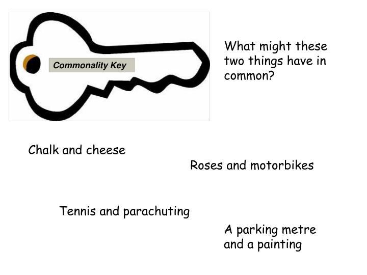 Commonality Key