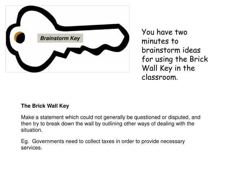 Brainstorm Key