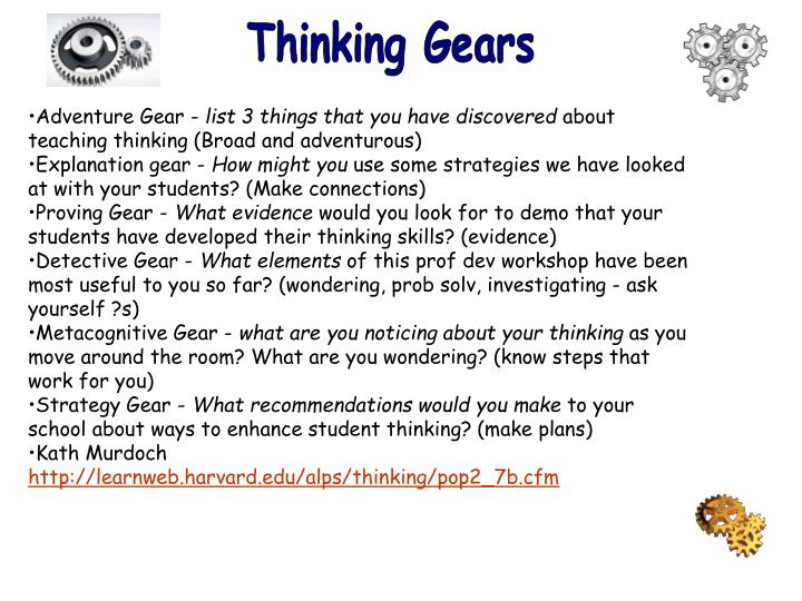 Thinking Gears