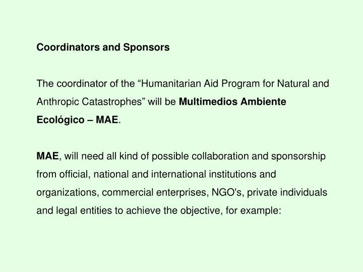 Coordinators and Sponsors