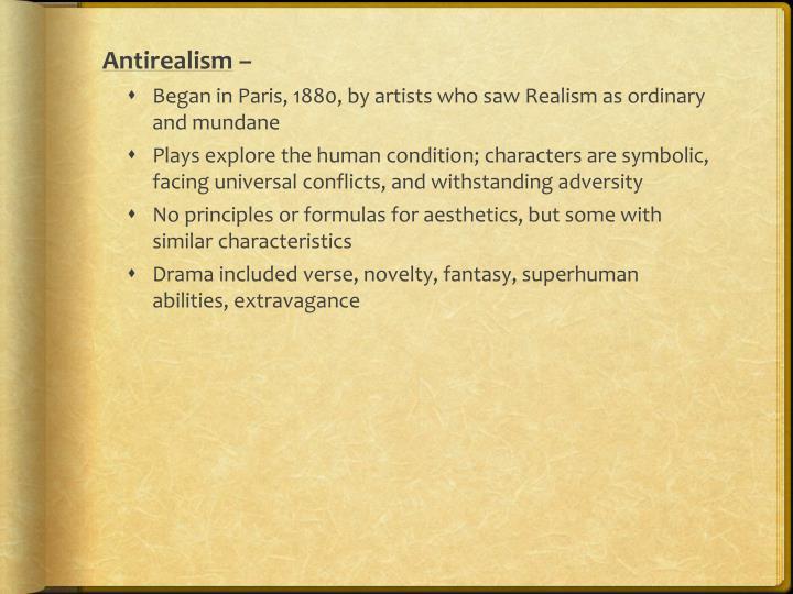 Antirealism