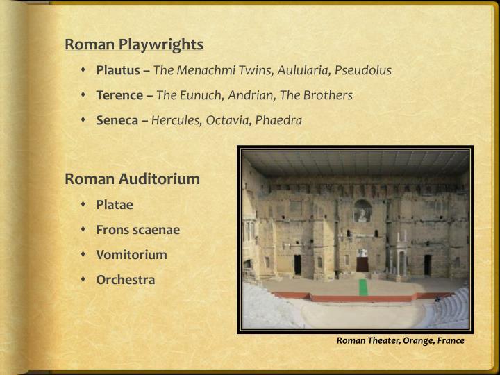 Roman Playwrights