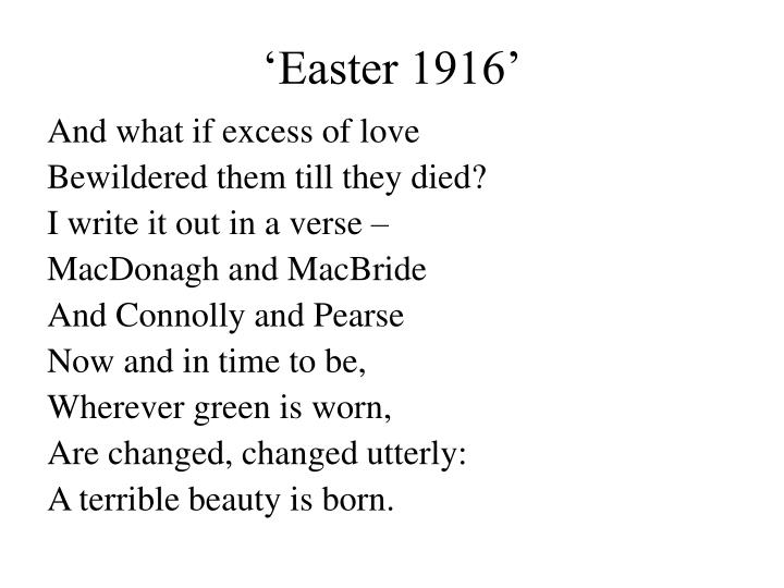 'Easter 1916'