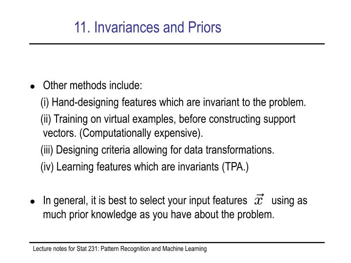 11. Invariances and Priors