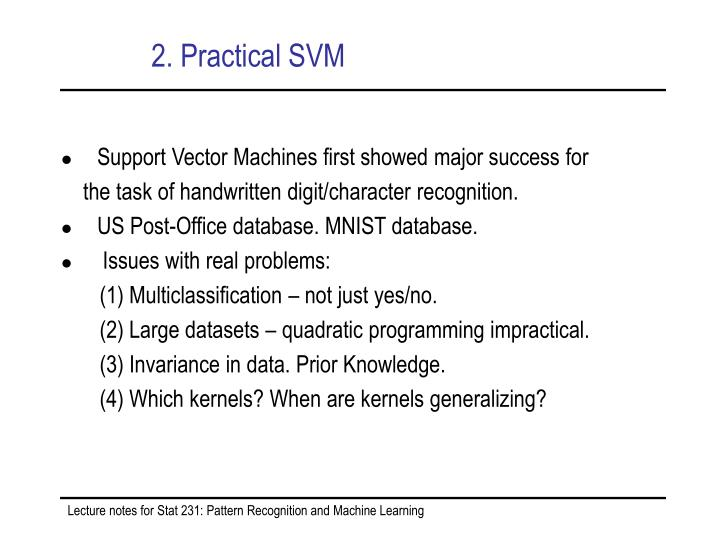 2. Practical SVM