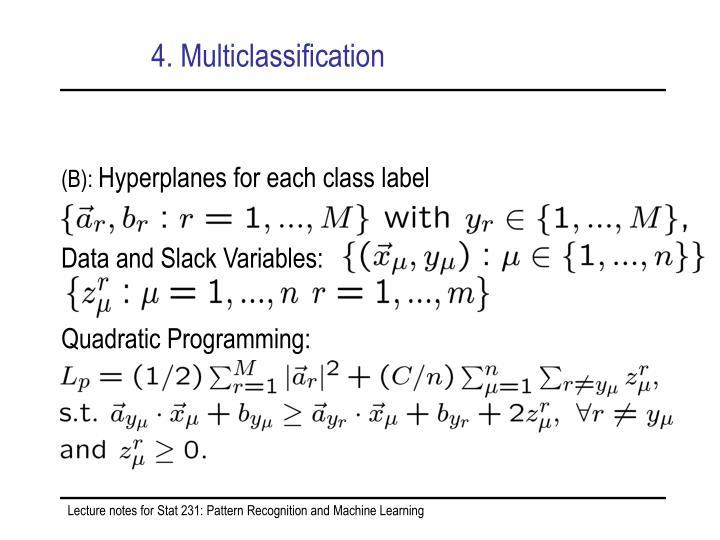 4. Multiclassification