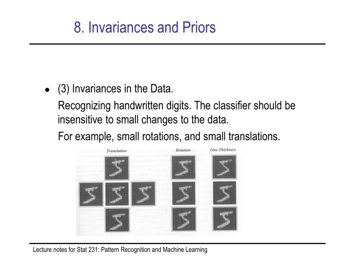 8. Invariances and Priors