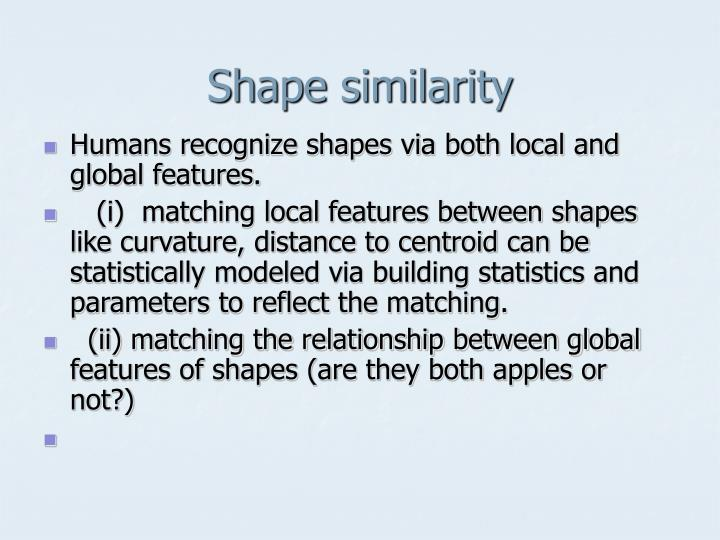Shape similarity