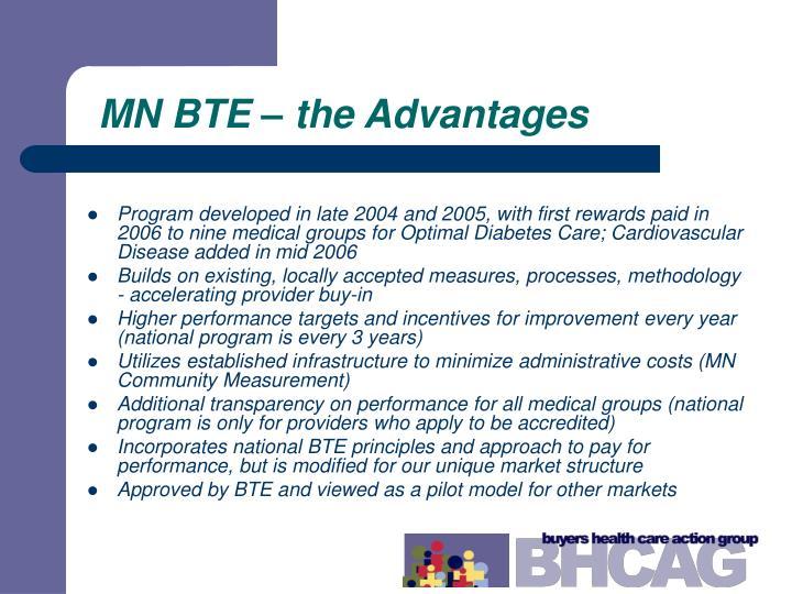 MN BTE – the Advantages