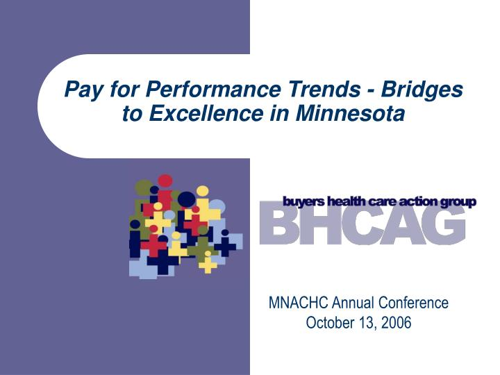 Pay for Performance Trends - Bridges to Excellence in Minnesota