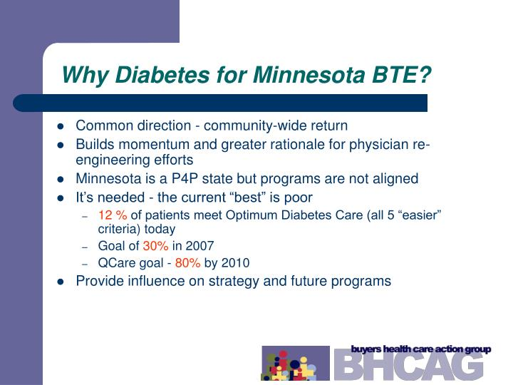 Why Diabetes for Minnesota BTE?