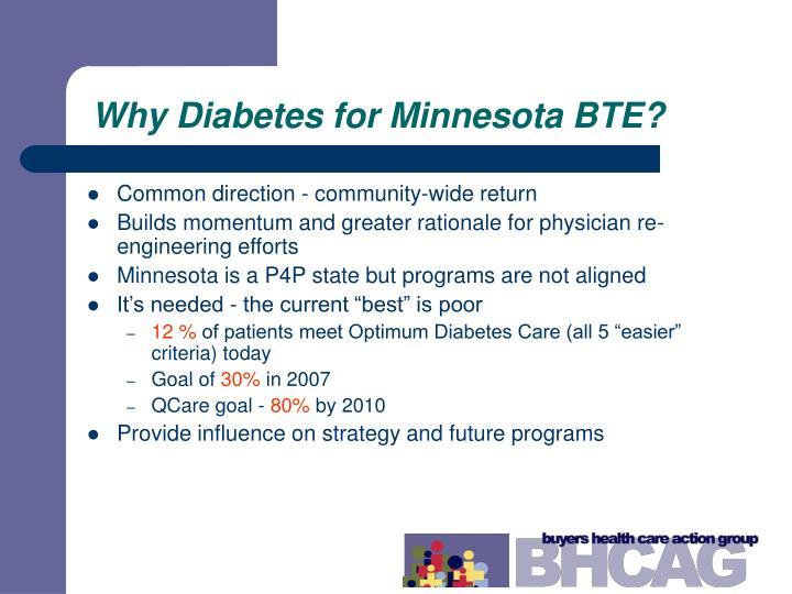Why Diabetes for Minnesota BTE?