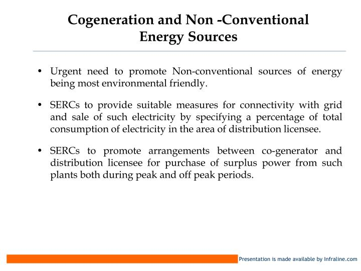 Cogeneration and Non -Conventional