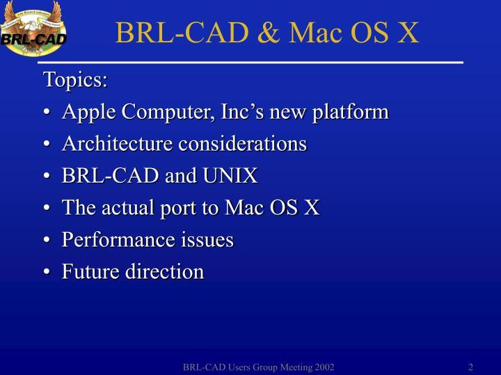 BRL-CAD & Mac OS X