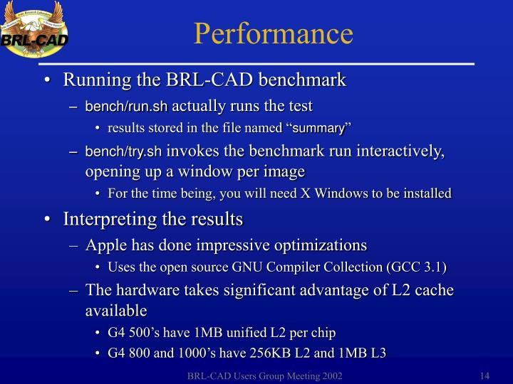 Running the BRL-CAD benchmark