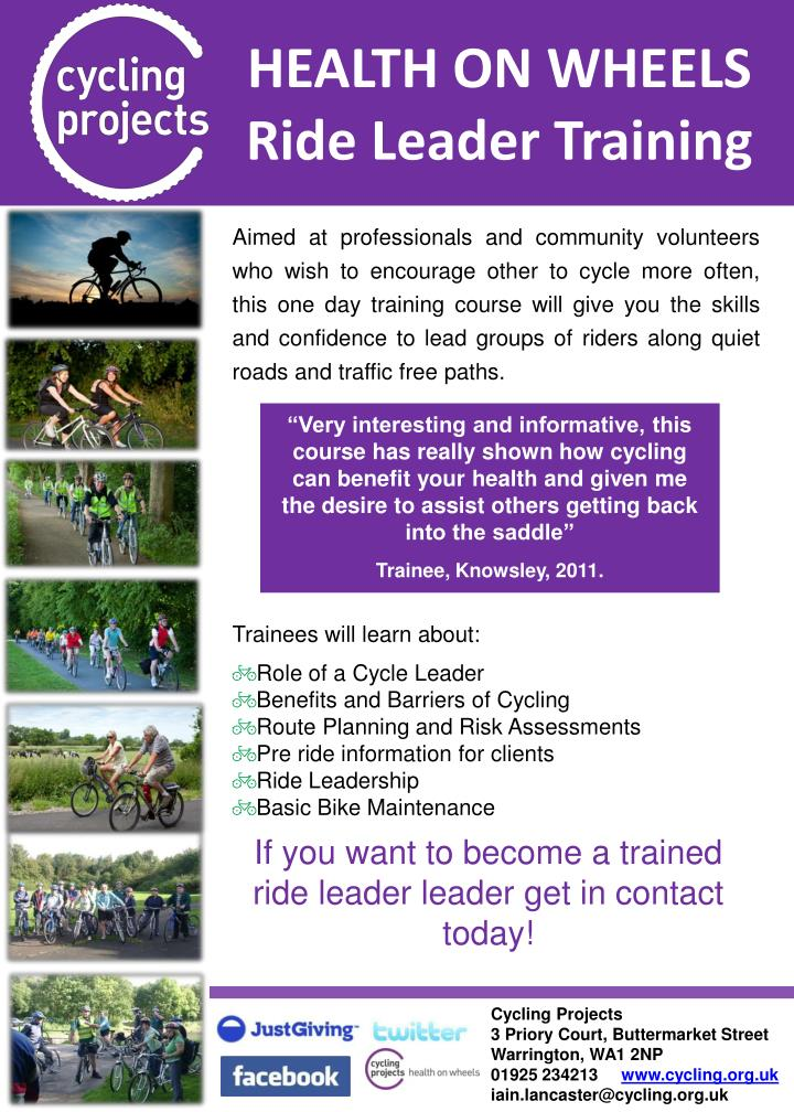 Health on wheels ride leader training