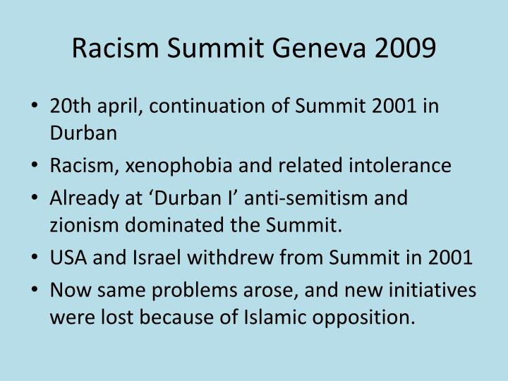 Racism Summit Geneva 2009
