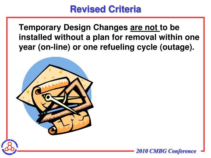 Revised Criteria