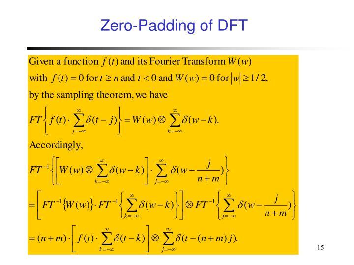 Zero-Padding of DFT