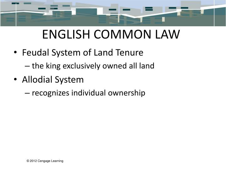 ENGLISH COMMON LAW