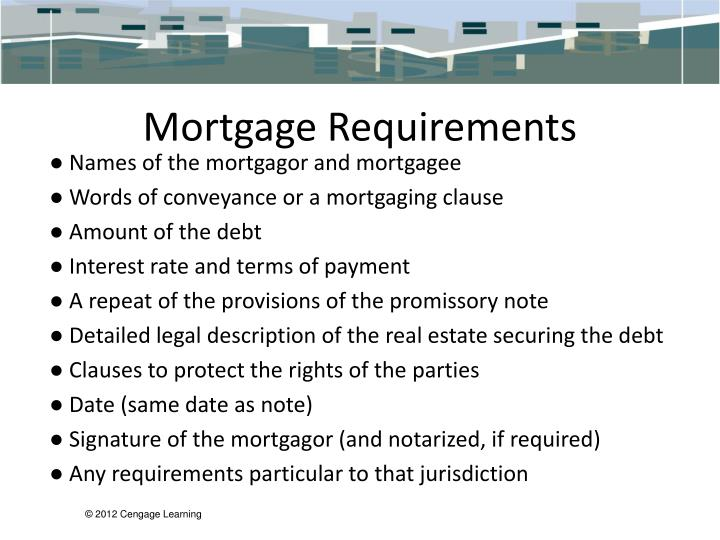 Mortgage Requirements