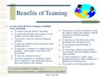 benefits of teaming
