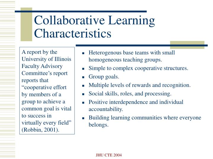 Collaborative Learning Characteristics