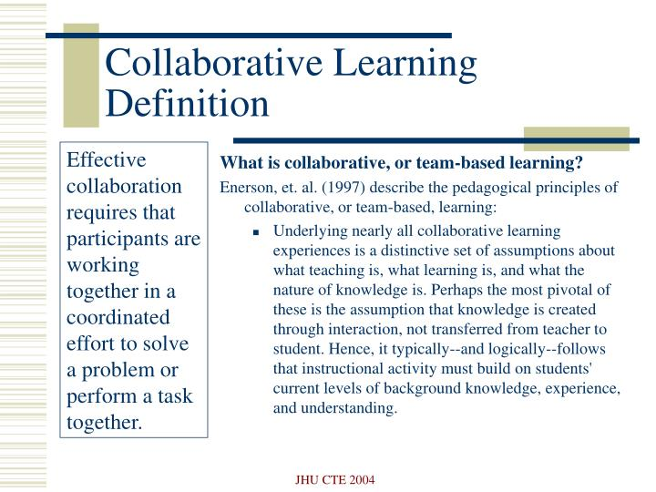 Collaborative Learning Definition