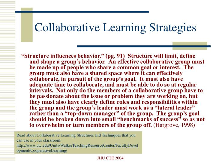 Collaborative Learning Strategies