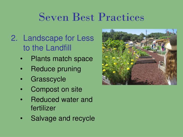 Seven Best Practices