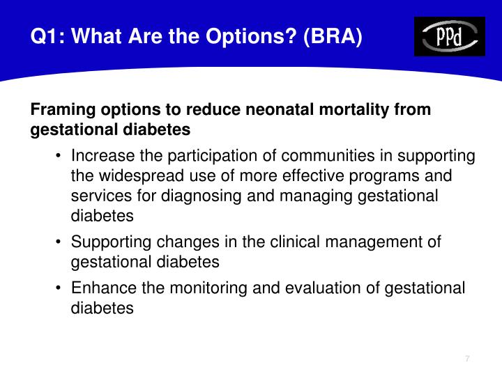 Q1: What Are the Options? (BRA)