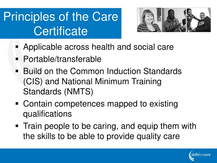 Principles of the Care Certificate