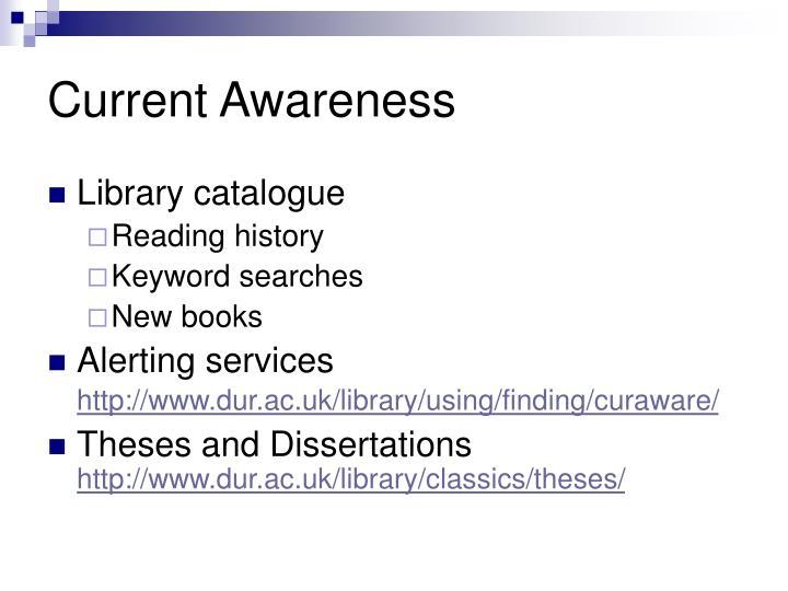 Current Awareness