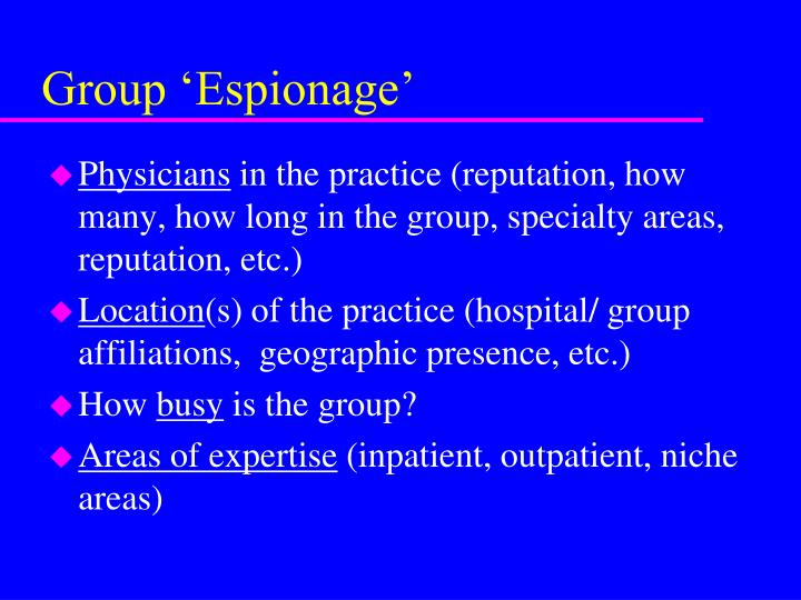 Group 'Espionage'