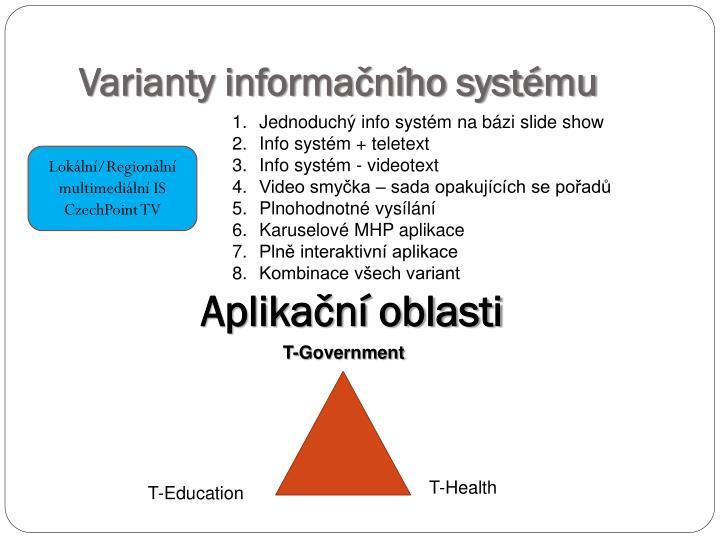 Varianty informačního systému