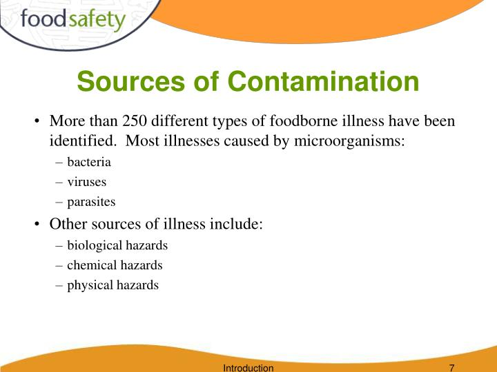Sources of Contamination