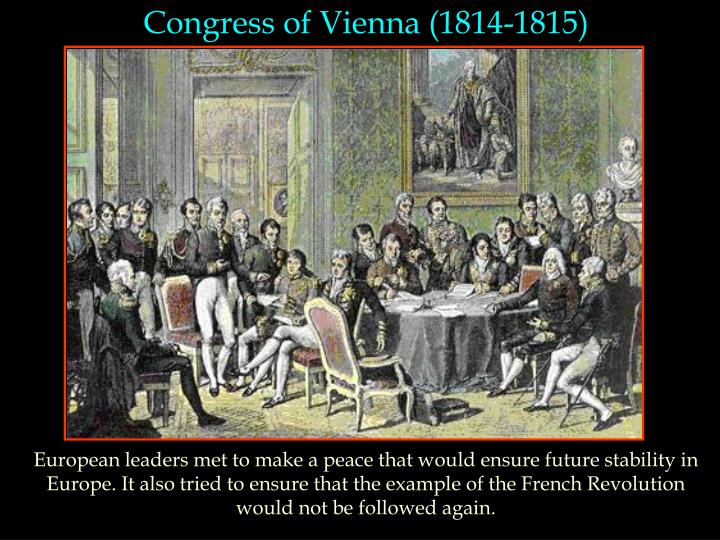 Congress of Vienna (1814-1815)