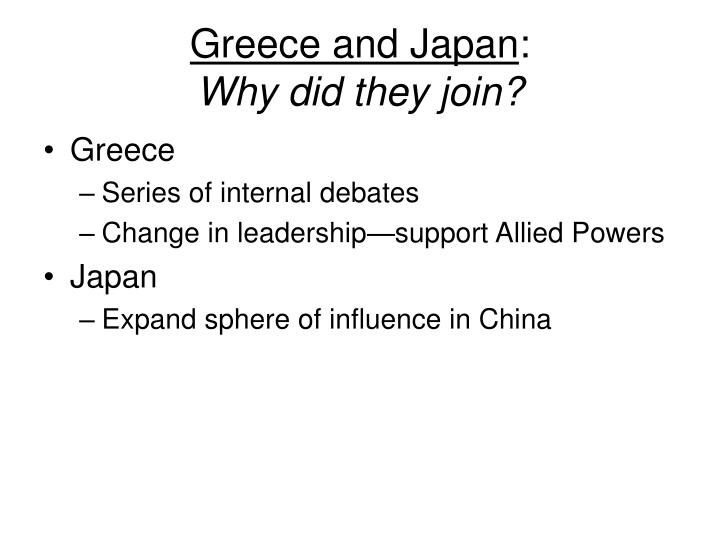 Greece and Japan