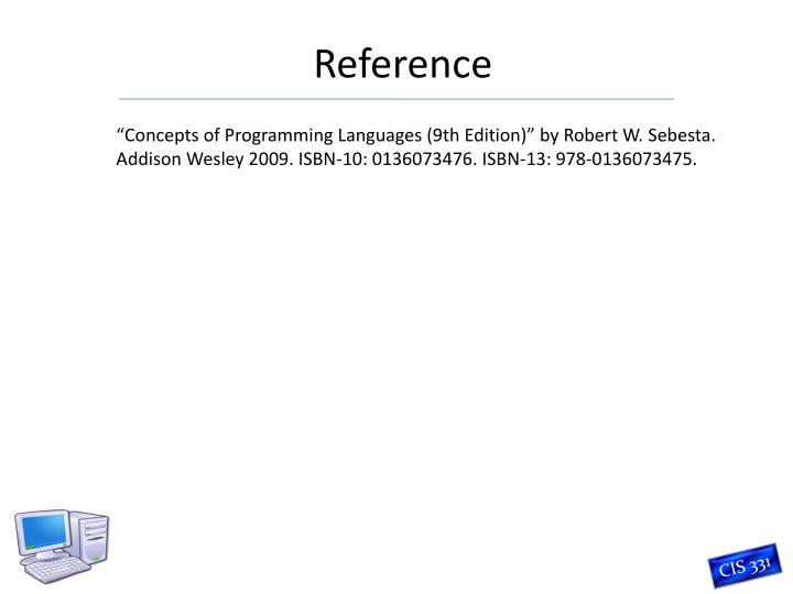 """""""Concepts of Programming Languages (9th Edition)"""" by Robert W."""