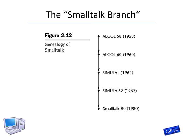 "The ""Smalltalk Branch"""