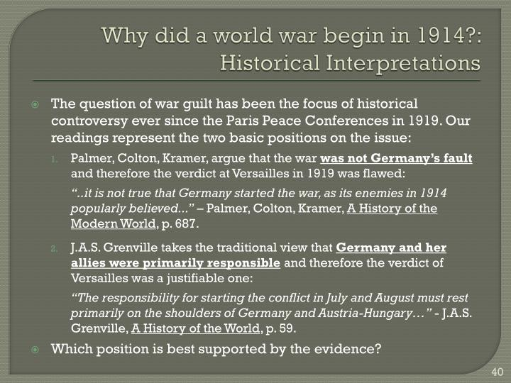 why did world war 1 begin essay Check out our top free essays on why did world war 1 start to help you write your own essay.