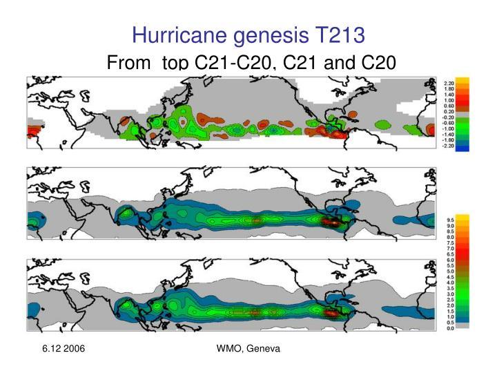 Hurricane genesis T213