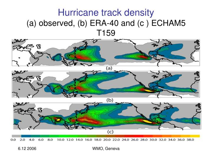 Hurricane track density