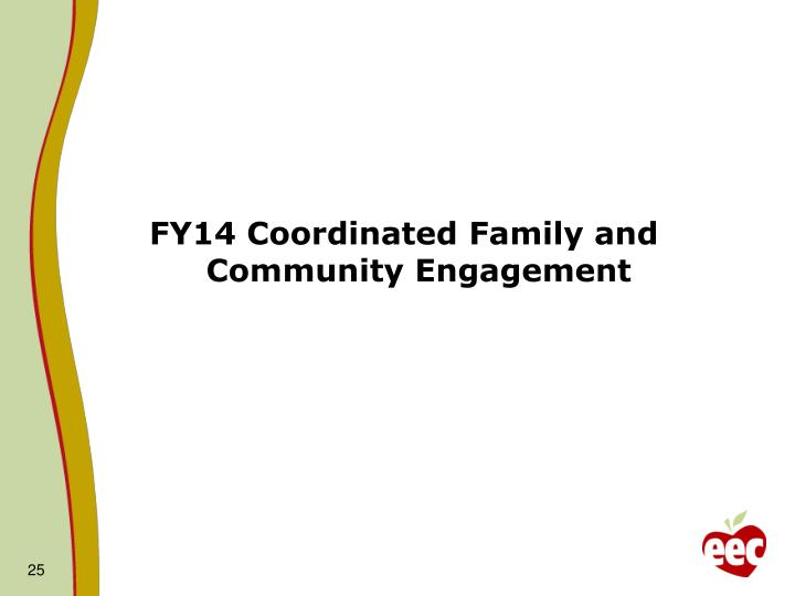 FY14 Coordinated Family and Community Engagement